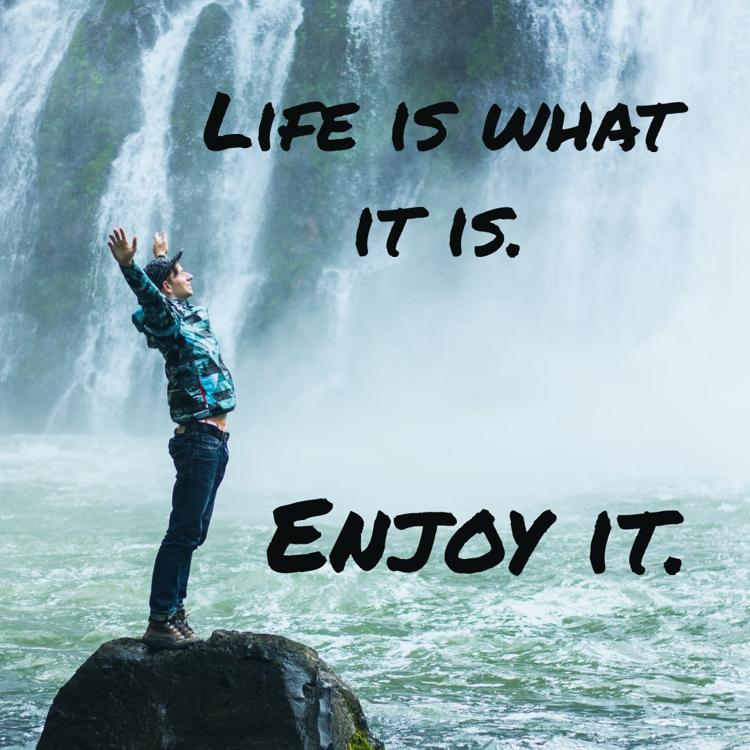 Life is what it is. Enjoyit.